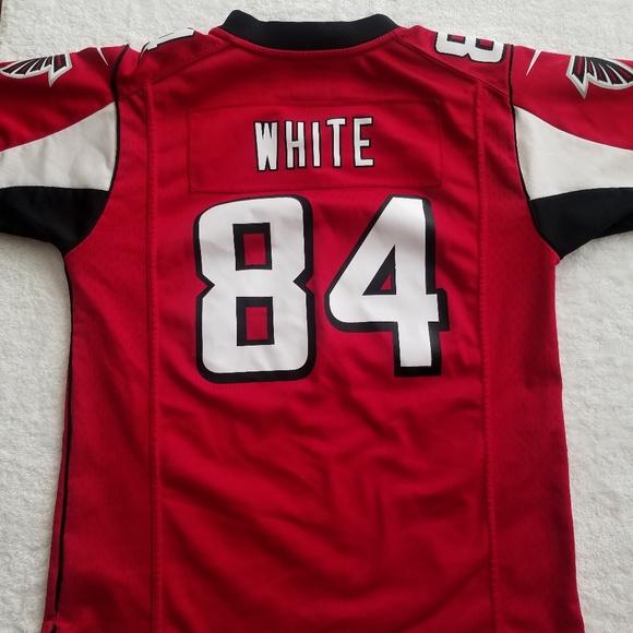 NFL Shirts & Tops | Atlanta Falcons Jersey White Boys Med Red | Poshmark